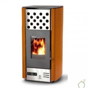 dea naranja estufa pellet